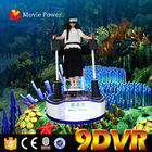 Chiny Gra wideo White 9d VR Cinema Standing Up 9D Action Cinema 360 Degree 200kg fabryka